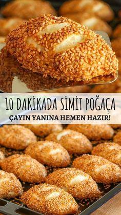 10 Dakikada Simit Poğaça Tarifi – Nefis Yemek Tarifleri – Vegan yemek tarifleri – Las recetas más prácticas y fáciles Donut Recipes, Pastry Recipes, Yummy Recipes, Cake Recipes, Dessert Recipes, Cooking Recipes, Yummy Food, Healthy Food, Turkish Recipes