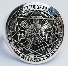 The Seal of the Seven Archangels Seals of solomon kabbalah amulet Handmade Ring Solid Sterling Silver 925 Knights Templar Ring, Solomons Ring, King Solomon Seals, Seven Archangels, Men's Jewelry Rings, Metal Jewelry, Fine Jewelry, Sterling Silver Mens Rings, Silver Man