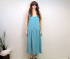 Vintage 90's Dress Large 80's Dress Oversized by GypsiesVintage