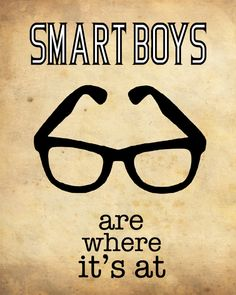 Smart Boys Are Where It's At //  meganlee at etsy