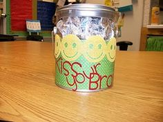 would be cute to make these one of the jars (kiss your brain, smarties, power pellets, etc for quick incentives)