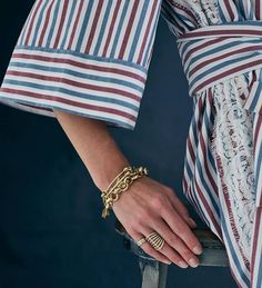Saturday stripes, and some jewels of course! Bangles, Bracelets, Cufflinks, Stripes, Lingerie, Jewels, Storyboard, Luxury, Accessories