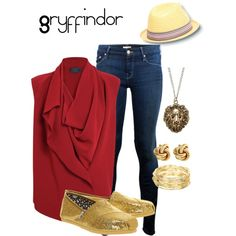 Casual Gryffindor on Polyvore