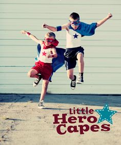 Little Hero Capes ... For your little hero and you can donate one for a sick child too! http://www.discoveryarts.org/the-gift-shoppe.html