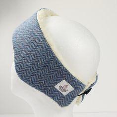 Headband Harris Tweed Blue Herringbone by PaulineLothian on Etsy Harris  Tweed 3c6f293c22a