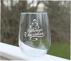 Items similar to christmas wine glasses, Etched Stemless wine glasses, stemless wine glass engraved, merry christmas on Etsy - Decorated wine glasses - Etched Glassware, Etched Wine Glasses, Wedding Wine Glasses, Decorated Wine Glasses, Painted Wine Glasses, Christmas Wine Glasses, Glass Engraving, Glass Etching, Etsy Christmas