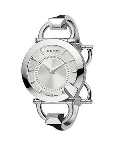 Gucci Watch, Women's Swiss Chiodo Stainless Steel Bangle Bracelet YA122508 - Women's Watches - Jewelry & Watches - Macy's