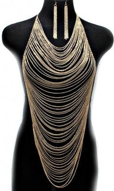 """""""All Over Me"""" Sexy Gold Body Chain Set - So Sexy Fashion Store"""