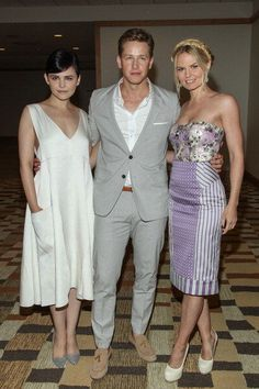 'One Upon A Time' cast members Ginnifer Goodwin, Josh Dallas and Jennifer Morrison at #ComicCon
