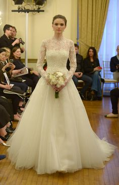 See Peter Langner Wedding Dresses From Bridal Fashion Week Muslim Wedding Dresses, Muslim Brides, Wedding Dress Sleeves, Long Sleeve Wedding, Bridal Wedding Dresses, Designer Wedding Dresses, Bridal Style, Muslim Couples, Indian Bridal Fashion