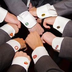 Kapow! Trendy Items to Complete Your Superhero Wedding | Let your soon-to-be hubby create the Justice League (or Avengers) team of his dreams as he selects his groomsmen for the big day. Help carry the theme of your wedding all the way down to the little things as the groomsmen deck themselves out in superhero cufflinks that give a subtle nod to the special day. (Set of 9, $75.97; amazon.com)