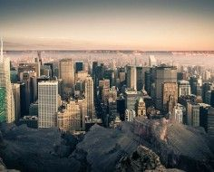 How Manhattan Would Look Dropped Inside The Grand Canyon