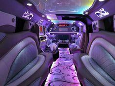 Inside of a Purple limo...