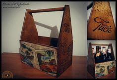 Wooden carrycot for beer, handmade. Decoupage, Beer, Handmade, Home Decor, Art, Root Beer, Art Background, Craft, Kunst