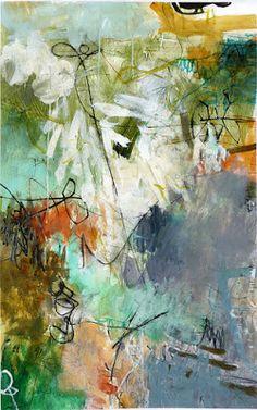 Por amor al arte: Krista Harris Collage Landscape, Painting Workshop, Encaustic Art, Art For Art Sake, Abstract Flowers, Abstract Canvas, Beautiful Paintings, Art Techniques, Lovers Art