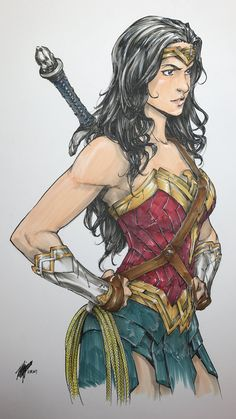 Wonder Woman Illustration By Takeshi Miyazawa