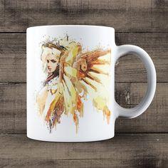 Mercy Overwatch Coffee Mug, Overwatch Game Mug