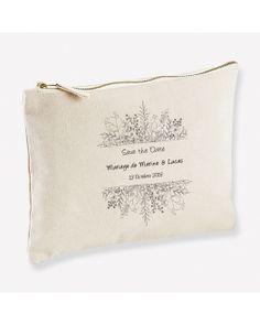 Trousse personnalisable pour un save the date de mariage original ! Flower Power, Date, Quirky Wedding, Accessories, Cotton
