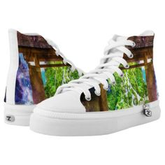 Rainbow Universe's Pathway to Paradise High-Top Sneakers