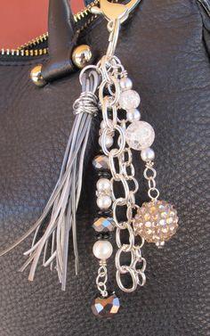 Blingy Purse Charm Charm Tassel Zipper Pull por ThePaintedCabeza