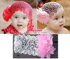 Free Shipping 1Pc 2013 Fashion Design Baby Girls Toddlers Kids Infants Lace Headband Hairband Hair Accessories Wear Bow Pink Red $4.99