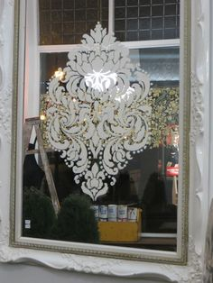 Annie Slone Paint on window stencils ( love this for my 2 high windows)