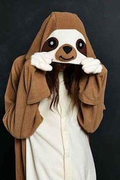 Kigurumi Sloth Costume for Halloween Party - Fashion Blog