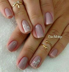 41 best wedding nail ideas for elegant brides page 4 Shellac Nails, Pedicure Nails, Acrylic Nails, Pink Nail Colors, Pink Nails, Bride Nails, Wedding Nails, Perfect Nails, Gorgeous Nails