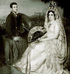 """""""Autorretrato con su mujer"""" (1930) by Francisco Soria Aedo (Spanish 1898-1965)"""