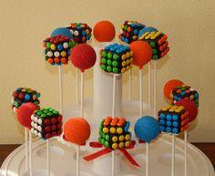 Rubiks Cube Cake Pops