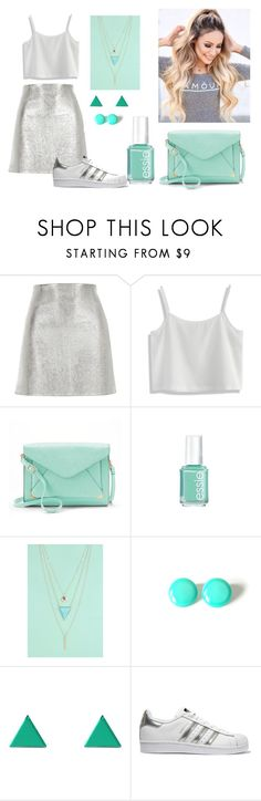 """Untitled #10"" by zanet-ljusavec ❤ liked on Polyvore featuring River Island, Chicwish, Apt. 9, Essie, Boohoo, Wolf & Moon and adidas Originals"