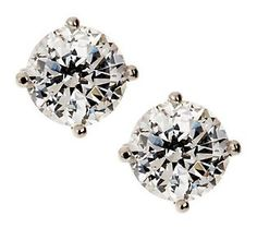 The Classic Stud. Keep them guessing in these super sparkly 2.00 ct tw #Diamonique earrings.