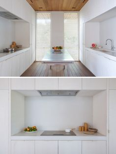 White, Minimalist Kitchen // A Home Of Elegant Simplicity In The Bahamas