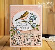 Stampin' Up! free as a bird, bird ballad suite Stampin Up Karten, Bee Cards, Stampin Up Catalog, Stamping Up Cards, Animal Cards, Paper Pumpkin, Copics, Birthday Cards, Teen Birthday