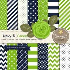 Navy Blue and Green Digital Paper, Lime Rose Flower Clipart for Wedding, Bridal Baby Shower, Birthd Classroom Color Scheme, Classroom Decor Themes, Classroom Design, Classroom Ideas, Flower Clipart, Blue And Green, Navy Blue, Blue Wedding Invitations, Crates
