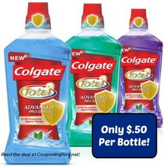 $1 Colgate Coupon Means $.50 Mouthwash At Walgreens!