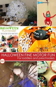 Love these Halloween fine motor activities - my kids will have a lot of fun with these! Click the image to see them all.