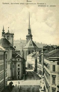 Old photo of Brno