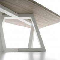 rotated and intersected table leg