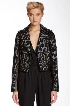 Theodora Leo Leather Accent Jacket by Diane von Furstenberg on @nordstrom_rack