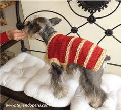 Abrigo para perro mediano - Tejiendo Perú