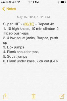 SuperHIIT - Cardio