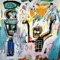 Jean-Michel Basquiat - Baptism, 1982. Acrylic and crayon on canvas