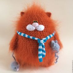 Купить Котофей Мышелов. - оранжевый, кот, котофей, коты и кошки, вязаные коты, вязаная игрушка