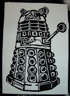 Dalek Linoprint