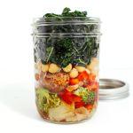 On-the-Go Jar Salad: Hearty Chickpea, Kale & Artichoke Heart Salad