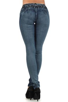 High Waist Push Up Colombian  Skinny Jeans