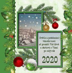 vanoce_novy_rok_novorocni_prani Christmas Wreaths, Merry Christmas, Christmas Ornaments, Holiday Decor, Frame, Home Decor, Education, Merry Little Christmas, Picture Frame