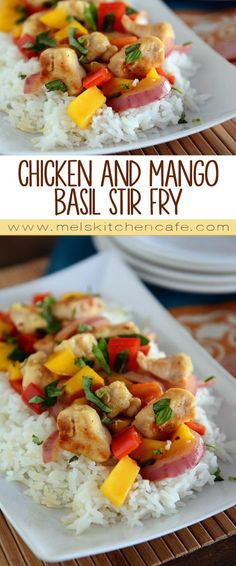 This flavorful chicken and mango basil stir-fry comes together in a flash and is fabulously delicious.