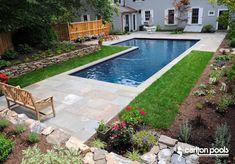 L Shaped Pool by Carlton Pools, Inc.
